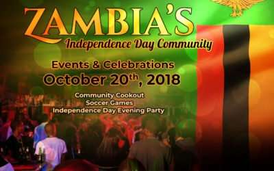 Zambia's Independence Day Atlanta Community Events & Celebrations – October 20th, 2018